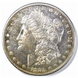 1883-S MORGAN DOLLAR CH AU NICE LUSTER STILL THERE
