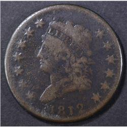 1812 LARGE CENT, VG