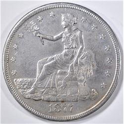 1877-S TRADE DOLLAR AU/BU