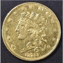 1835 $5 GOLD CLASSIC HEAD   AU