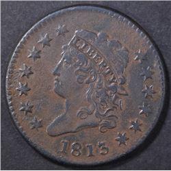 1813 LARGE CENT  VF/XF  DARK