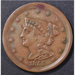 1855 HALF CENT  AU/BU