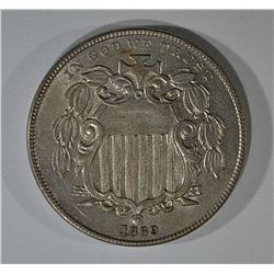 1869 SHIELD NICKEL BU