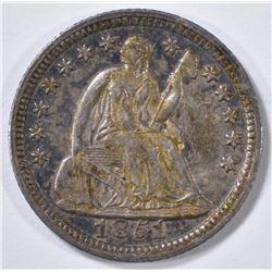1851 SEATED LIBERTY HALF DIME  AU/BU