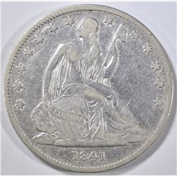 1841-O SEATED LIBERTY HALF DOLLAR VF