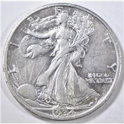 1934-D WALKING LIBERTY HALF DOLLAR AU