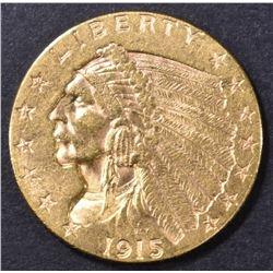 1915 $2.5 GOLD INDIAN BU