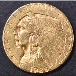 1926 $2.5 GOLD INDIAN AU