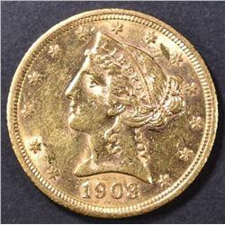 1903-S $5 GOLD LIBERTY BU
