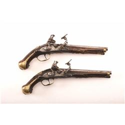 19LK-3 HI ART ITALIAN PAIR FLINTLOCK SNAPHANCES