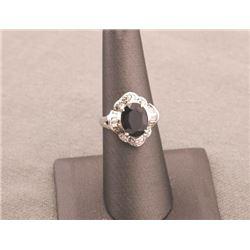 19RPS-18 SAPPHIRE & DIAMOND RING