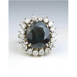 19CAI-2 SAPPHIRE & DIAMOND RING