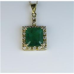 19CAI-4 EMERALD & DIAMOND PENDANT