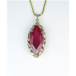19CAI-5 RUBY & DIAMOND PENDANT