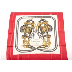 19KC-70 HERMES PARIS SILK SCARF IN BOX