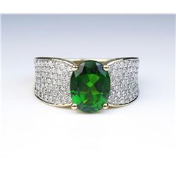 19CAI-28 TOURMALINE & DIAMOND RING