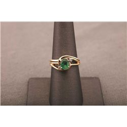 19RPS-23 EMERALD & DIAMOND RING