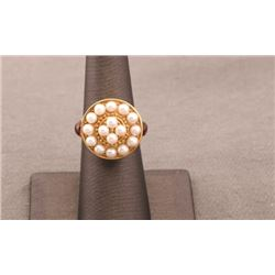 19RPS-28 PEARL& SAPPHIRE RING