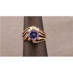 19RPS-40 SAPPHIRE & DIAMOND RING