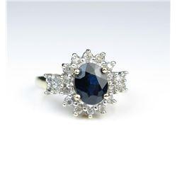 19CAI-35 SAPPHIRE & DIAMOND RING