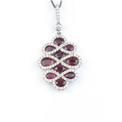 19CAI-18 RUBY & DIAMOND PENDANT