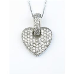 19CAI-20 HEART SHAPED DIAMOND PENDANT
