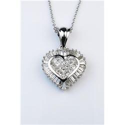 19CAI-24 HEART SHAPED DIAMOND PENDANT