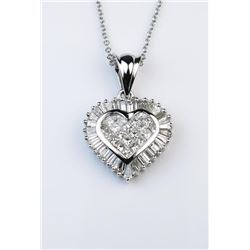 19CAI-24 HEART SHAPED DIAMOND PENDANT