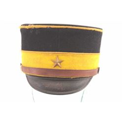 19LL-16 JAPANESE WWII OFFICER'S PILLBOX HAT
