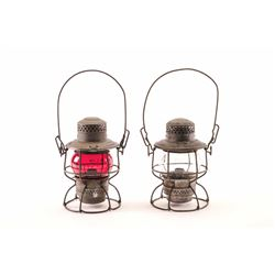 19LU-1 PAIR OF RAILROAD LANTERNS