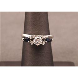 19JW-30 DIAMOND & SAPPHIRE RING