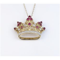 19CAI-40 RUBY & DIAMOND TIARA PENDANT