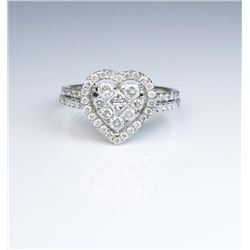 19CAI-43 HEART SHAPED DIAMOND RING