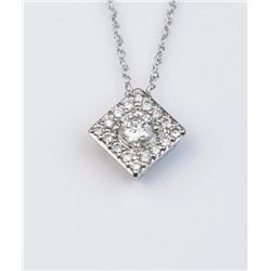 "19CAI-39 ""IDEAL CUT DIAMOND PENDANT"