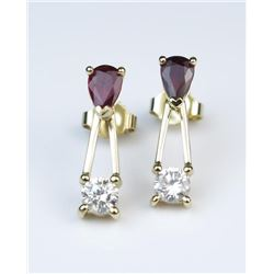19CAI-37 RUBY & DIAMOND EARRINGS
