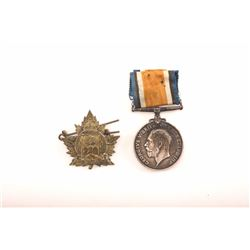 19IK-6 TWO CANADIAN WWI MEDALS