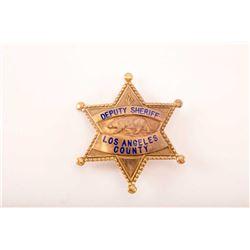 19JH-19 DEPUTY SHERIFF L.A. COUNTY BADGE