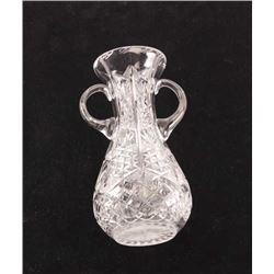 19KC-40 LARGE BRILLIANT CUT GLASS VASE