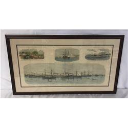 Framed Steel Engraving Pictorial War Record.