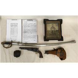 Civil War Soldier Collection. Saber, Revolver & Id