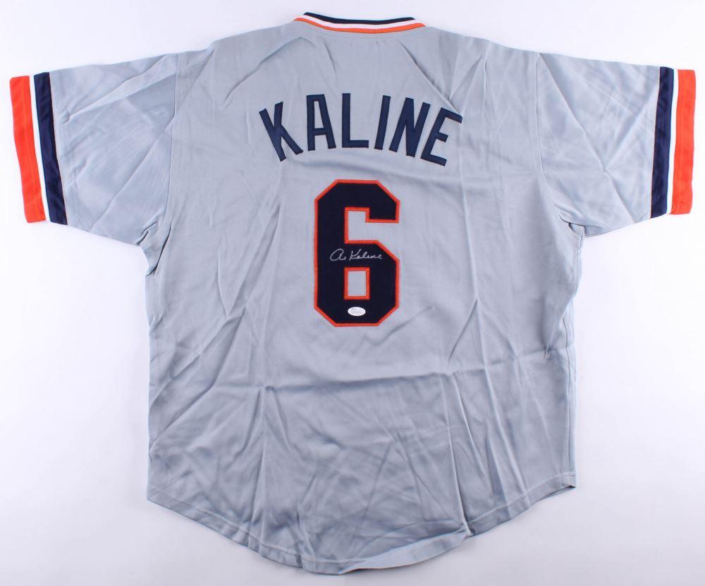 watch 5b6ed 4493e Al Kaline Signed Jersey (JSA COA)