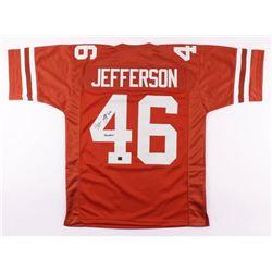 classic fit 6224e 86060 Malik Jefferson Signed Texas Longhorns Jersey Inscribed ...
