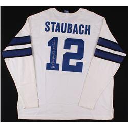promo code 894fa 40724 Roger Staubach Signed Throwback Dallas Cowboys Jersey ...
