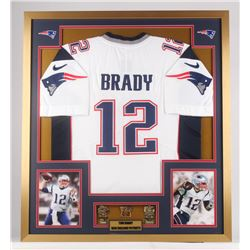 buy popular 4842b b4e1d Tom Brady New England Patriots 32x36 Custom Framed ...