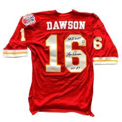best sneakers 9d082 0ef85 Len Dawson Signed Kansas City Chiefs Throwback Jersey ...