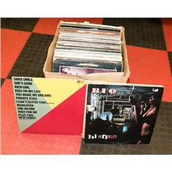BOX OF ROCK RECORDS AND MORE, CARLY SIMON, REO