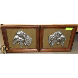 LOT OF TWO FISHING DOG WALL PLAQUES