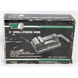 """NEW POWERFIST 3"""" DRILL PRESS VICE"""