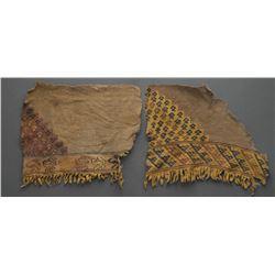 PREHISTORIC PERUVIAN CLOTH FRAGMENTS