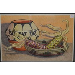 SANTO DOMINGO INDIAN PAINTING (HENRY AGUILAR)